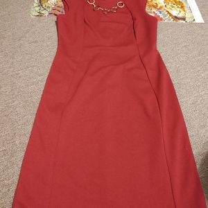 Calvin Klein Wine Chain Dress Size 8